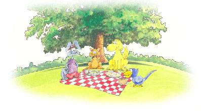 Harey and his friends on a pic-nic